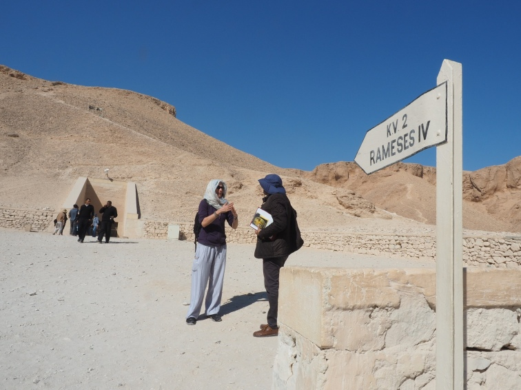 Lenore at entrance to the tomb of Ramseses IV