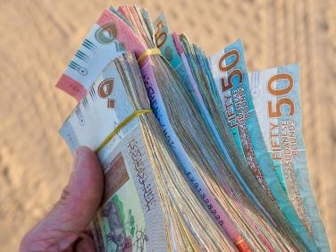 Sudanese pounds.